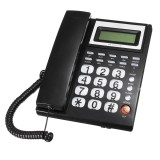 Desktop Landline Phone Fixed Telephone FSK/DTMF Caller ID Corded Phone Compatible with LCD Screen for Home Office Hotels