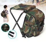 600D Max Load 150kg Oxford Cloth Folding Stool Multifunctional Storage Bag Backpack Chair Seat for Camping Hunting Fishing