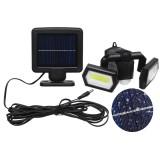 60COB Solar Wall Light IP65 Dual Head Human Body Induction Garden Street Lamp