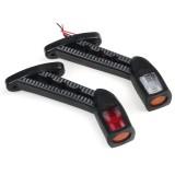 2PCS 24V LED Side Marker Lights Outline Lamp Red White Ambe for Car Truck Trailer