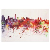 DIY Art Painting Color City Building Painting Canvas Decor Home Decoration Wall Pictures Living Room Wall Home Decor