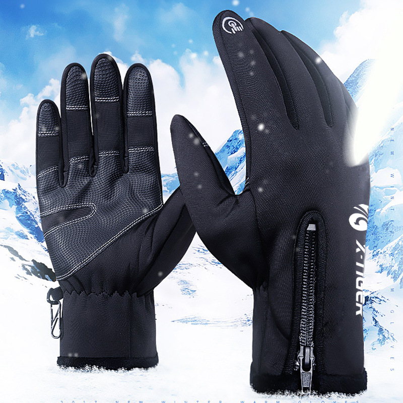 X-TIGER Winter Ski Gloves Waterproof Touch Screen Cycling Gloves Windproof Thermal Warm Full Finger Anti-slip Hiking Glove