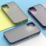 Bakeey for iPhone 12 Mini Case Shockproof Anti-Fingerprint Matte Translucent Hard PC & Soft TPU Edge Protective Case