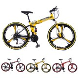 KAIMARTE 26 Inch 21-Speed Folding Mountain Bike Off-road BMX Bikes Double Disc Brakes Students and Kids Road Bikes Bicicleta Bicycle
