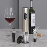 Electric Vino Bottle Opener Set Stainless Steel Automatic Corkscrew Opener Puller Kit With Foil Cutter Vacuum Stopper And Pourer