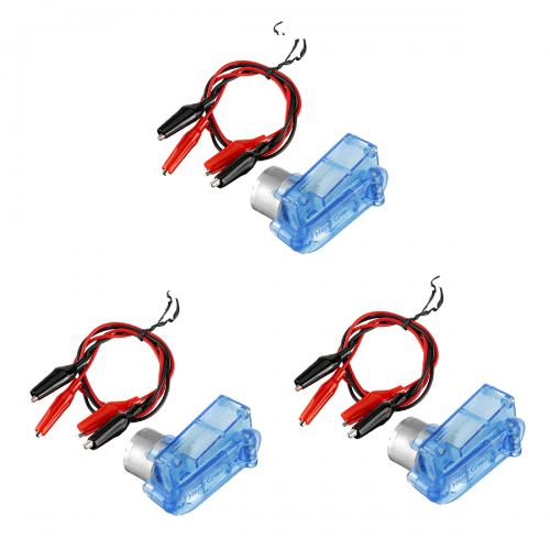 3Set Mini Emergency Hand-cranked Dynamotor Charger Portable Hand-cranked Generator 3V 5V for Diy Electronic Production with Clip Lines
