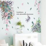 Green Leaves Creative Wall Stickers for Bedroom Living room Dining room Kitchen Kids room DIY Vinyl Wall Decals Door Murals