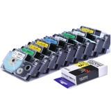 CIDY 1 Roll 9/12mm Label Tape Compatible Casio Label for Casio KL-780 KL-60 KL-170 KL-120 KL-820 CW-L300 KL-7400 KL-8800 Printer