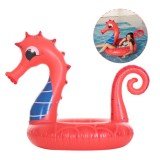 Large Seahorse Inflatable Hippocampus Giant Swimming Pool Ring Floats Bed Water Pool Raft Camping Beach Water Sport Toys Lounge Travel
