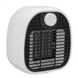 Mini Desktop Electric Space Heater 2 Gear PTC Heating Low Noise Warm Air Blower for Home Office