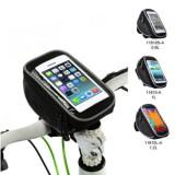 BIKIGHT 0.9/1/1.2L Bike Bag Front Frame Bag Waterproof Touch Screen Phone Bag Bike Pouch for MTB Road Bicycle