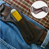 Men Genuine Leather Multi-function Mini Tool Bag Vintage Easy Carry Belt Bag Waist Bag With Belt Loop
