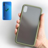 Bakeey for Redmi 9A Case Matte Translucent Anti-Scratch Anti-Fingerprint Soft TPU + Hard PC Protective Case