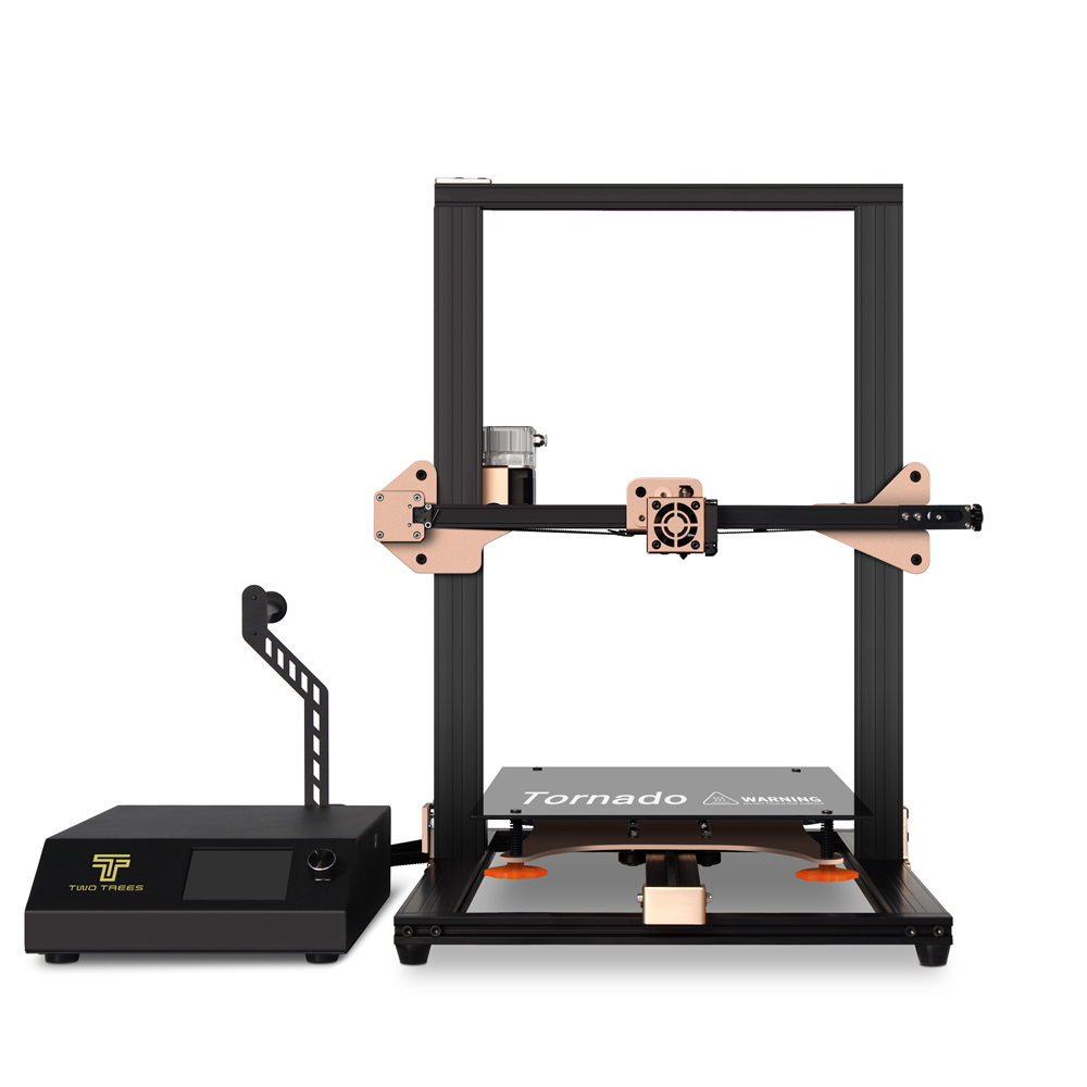 TWO TREES Tornado V2 Upgraded 3D Printer Kit 300*300*400mm Printing Size With BMG Extruder/Silicone Heated Bed/Glass Platform