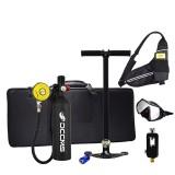 DCCMS DS-810 8pcs/set Black 1L Portable Diving Scuba Tank Divers Spare Oxygen Equipment Leisure Diving Mini Oxygen Tank