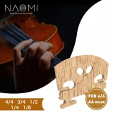 NAOMI Grooved G D A E Violin Bridge Selected AA Grade Maple Bridge French Style For 4/4 Violin Use
