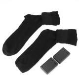 Winter Battery Rechargeable Electric Heated Socks With Elastic Health Feet Warmer Thermal Socks For Ski Outdoor Sports