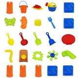 25Pcs Sand Playing Tools Set Non-Toxic ABS Water Sand Playing Tools Children Sand Beach Swimming Pool Backyard Playing Set