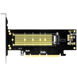 NVMe Expansion Card JEYI SK18 Add On Card M.2 NVMe Adapter to PCIE M.3 for 2230-22110 Size NVME GEN3 M.3