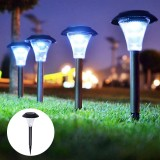 4Pcs LED Solar Lawn Light Ground Plug Light High Brightness Outdoor Waterproof Courtyard Garden Decoration Landscape Lawn Lamp