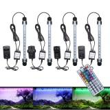 28CM 4.5W SMD5050 RGB LED Aquarium Fish Tank Light Color Changing Bar Submersible Lamp + 44Keys Remote Control