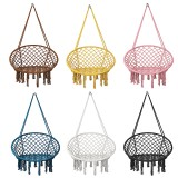 Macrame Swing Chair Kids Hanging Hammock Chair Max Load 125kg Outdoor Indoor Garden