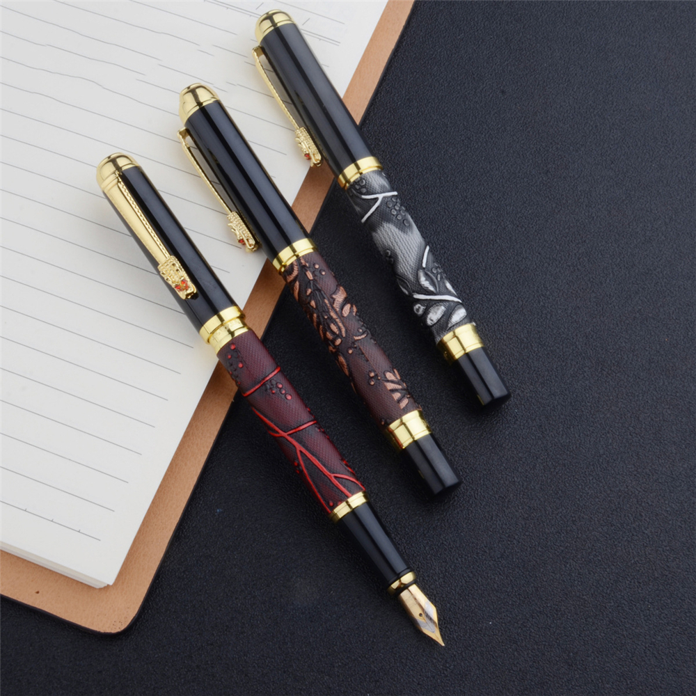 Yongsheng 1106 Metal Fountain Pen Dragon Head Pen Business Office Signature Pen Student Calligraphy Pen