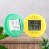 Bakeey YSJ-1819 Electronic Thermometer Hygrometer Digital Display Temperature Humidity Thermometer Hygrometer Round Household Electronic Alarm Clock