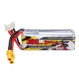 CODDAR 11.4V 300mAh 3S 90C High Discharge HV Lipo Battery XT30 Plug for Toothpick Whoop