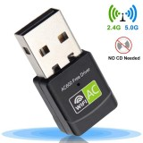 Bakeey 600Mbps USB Wireless Network Card WiFi Adapter Dual Band 2.4G/5G Wi-Fi Dongle For Desktop Laptop PC