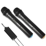Dual UHF Wireless Microphone Mobile Phone One for Two Live Broadcast Home Conference Audio TV Computer Microphone with bluetooth Receiver