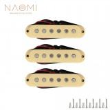 NAOMI 50mm Guitar Pickup 3PCS/Set Single-coil Guitar Neck Pickup Electric Guitar Pickup Neck/Middle/Bridge Guitar Accessories