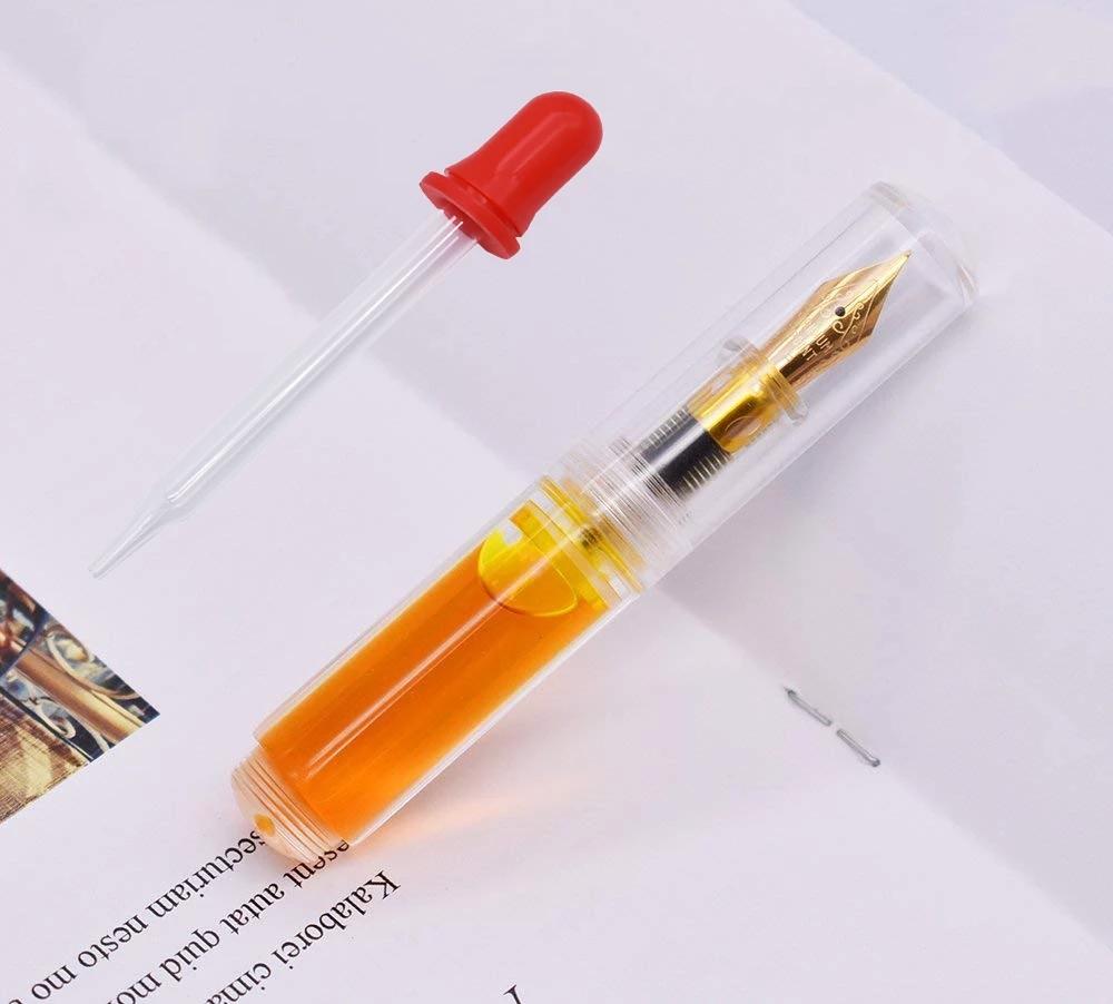 Moonman Wancai Portable Mini Fountain Pen 0.5mm Transparent Palm Short Fountain Pen Travel Ink Pen Fashion Writing Gift