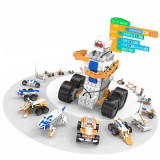 XIAO R DIY Programmable RC Robot Kit APP/Stick Control STEAM Educational Kit Compatible with Lego