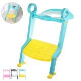 Folding Infant Potty Seat Children's Toilet Seat with Adjustable Step Stool Folding Safe Baby Toilet Potties Ladder Gift