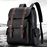 Men Leather School Backpacks Outdoor Travel Satchel Shoulder Bag Rucksack Satchel Handbag