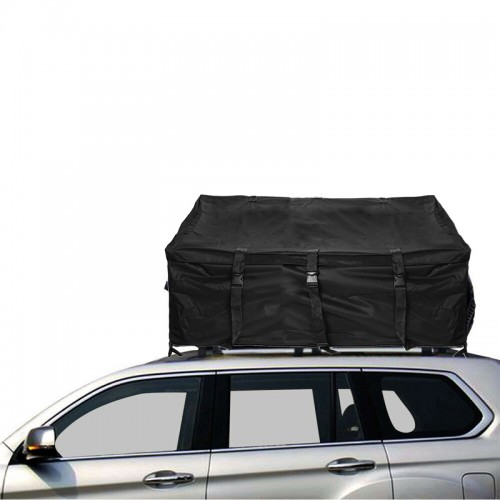 600D Oxford Car Roof Top Rack Bag Luggage Storage Cargo Carrier Bag Waterproof UV-proof Outdoor Camping Travel Organizer