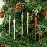 2020 Christmas Tree Ornament Simulation Ice Christmas Tree Hanging Decoration Icicle Prop for DIY New Year Party Xmas Home Decor