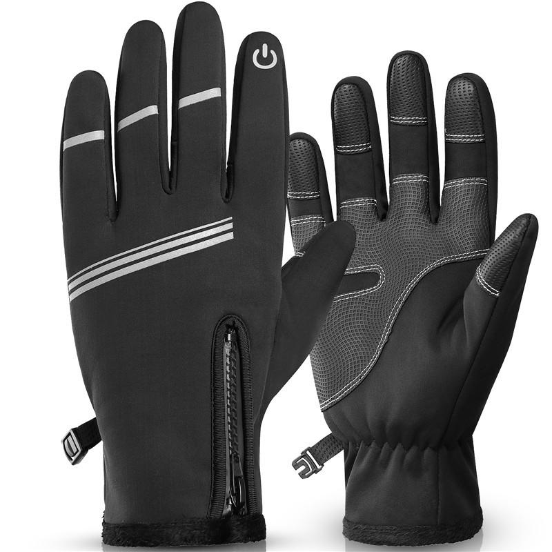 WEST BIKING Winter Cycling Gloves Men Windproof Warm Bicycle Gloves Waterproof Touch Screen Motorcycle Bike Gloves
