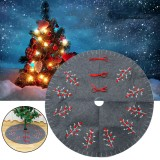 2020 Christmas Decor 120cm New Year Xmas Tree Carpet Foot Cover Christmas Tree Skirt Aprons for Home Decoration