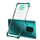 Bakeey for Xiaomi Redmi Note 9 / Redmi 10X 4G Case 2 in 1 Plating with Airbag Lens Protector Ultra-Thin Anti-Fingerprint Shockproof Transparent Soft TPU Protective Case