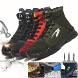 Men's Safety Work Shoes Steel Toe Cap High-top Running Sneakers Breathable Ankle Boots Climbing Walking Jogging