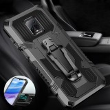 Bakeey for Xiaomi Redmi Note 9S / Redmi Note 9 Pro Case Dual-Layer Rugged Armor Magnetic with Belt Clip Stand Non-Slip Anti-Fingerprint Shockproof Protective Case