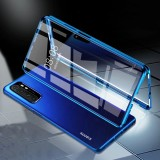 Bakeey 360 Curved Magnetic Flip Double-sided 9H Tempered Glass Metal Full Body Protective Case for Xiaomi Mi Note 10 Lite