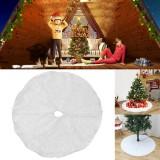 2020 White Plush Christmas Tree Skirt Christmas Decoration for Home Soft Hair White Round Carpet Christmas Decor