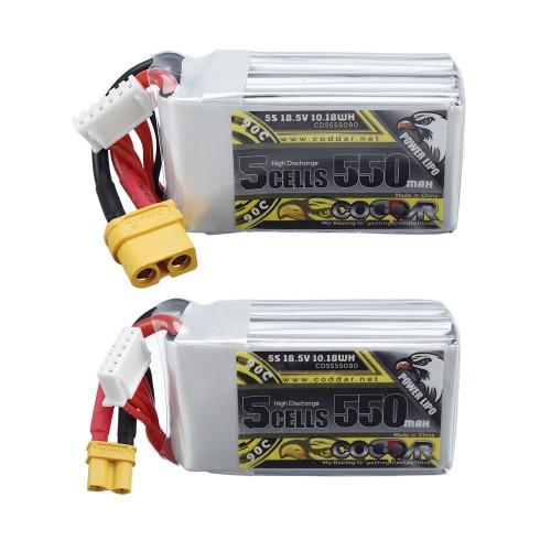 CODDAR 18.5V 550mAh 90C 5S Lipo Battery XT30/XT60 Plug Optional for Tiny Whoop