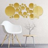 3D Home Mirror Wall Stickers Self Adhesive Removable Bedroom Office Art Decal Household Wall Ornament Supplies