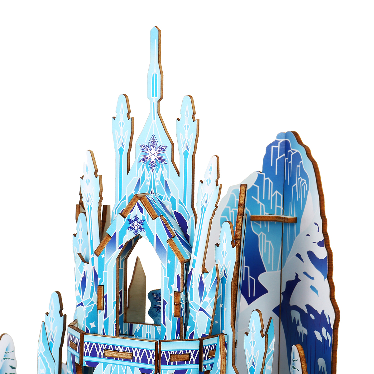 Wooden Ice Castle 3D DIY House Kit Puzzle Toys 3D Jigsaw Puzzle Assembly Model Educational Toy Christmas Birthday Gift For Kids