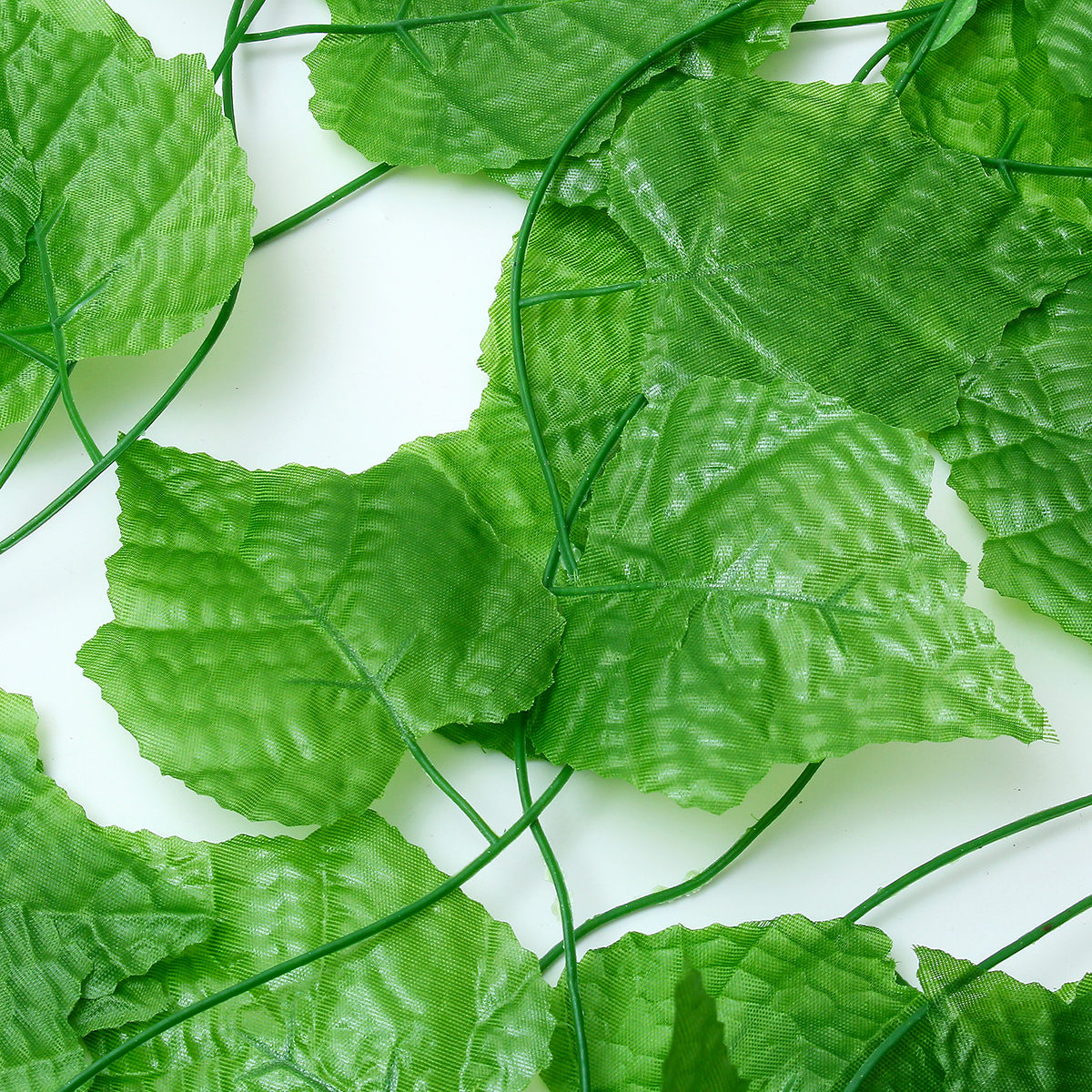12Pcs/Pack Artificial Greenery Vine Artificial Ivy Leaves Hanging for Home Bathroom Garden Wedding Party Decor