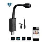 Xiaovv 1080P WIFI AP USB Web Cam Mini IP Camera 140 Wide Range AI Human Body Detection V380 Pro 128G SD Card Cloud Storage CCTV for Home Secure Surveillance Camera